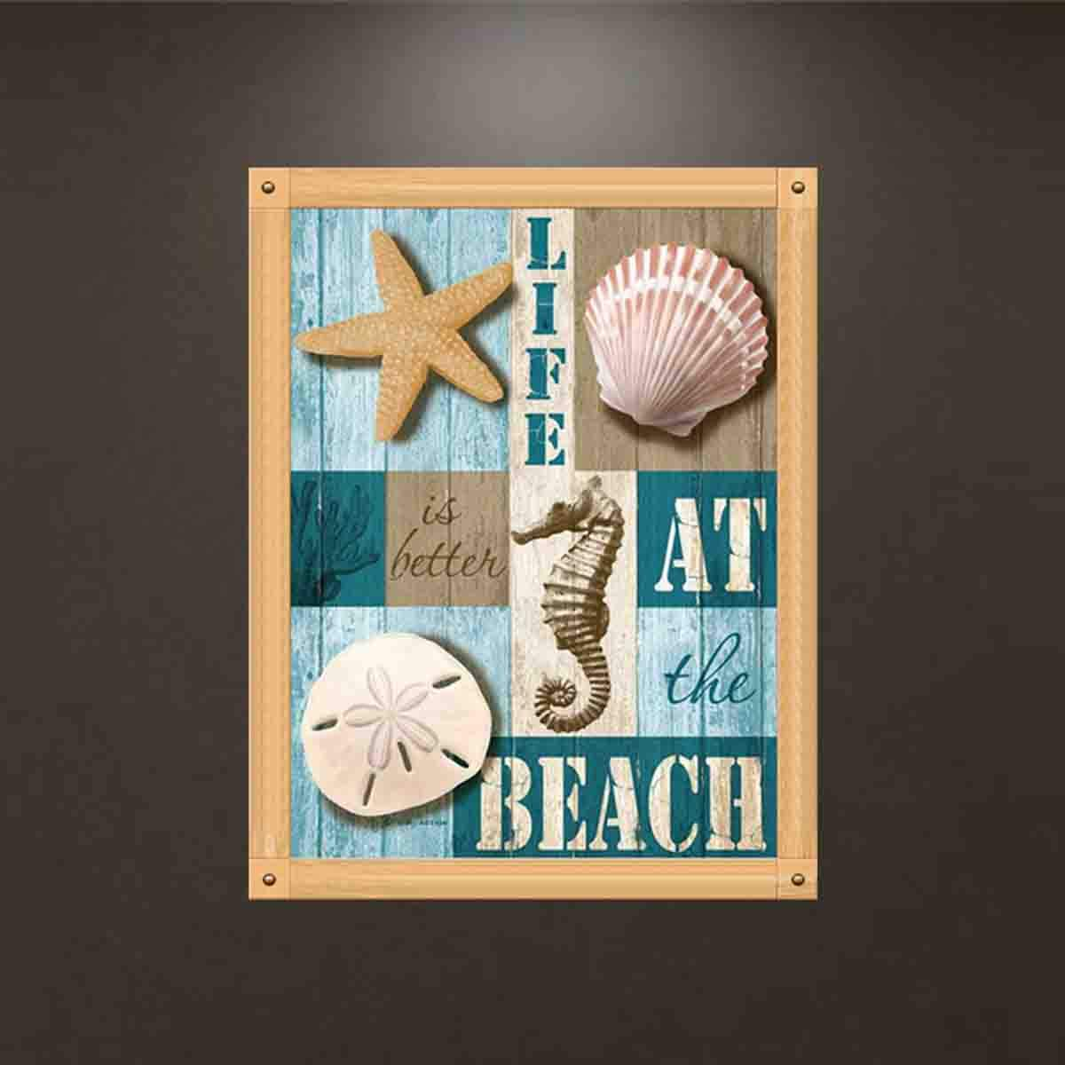 Life at Beach TWBB Diamond Painting for Adult 5D Diamond Painting Full Drill Paint with Diamonds fit DIY,Diamond Art Kits for Adults,Beach Oil Painting Style