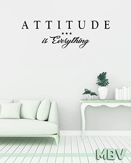 Amazoncom Attitude Is Everything Wall Quote Wall Decal Vinyl
