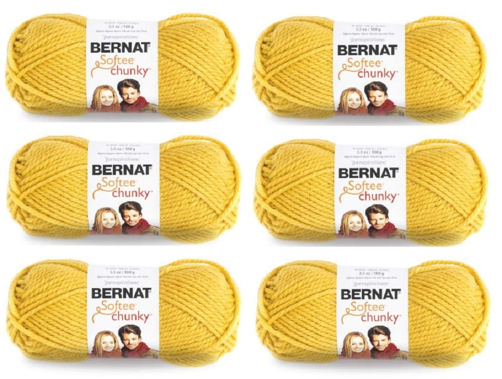 Bulk Buy: Bernat Softee Chunky Yarn (6-Pack) Glowing Gold 161128-28607 by Bernat (Image #1)
