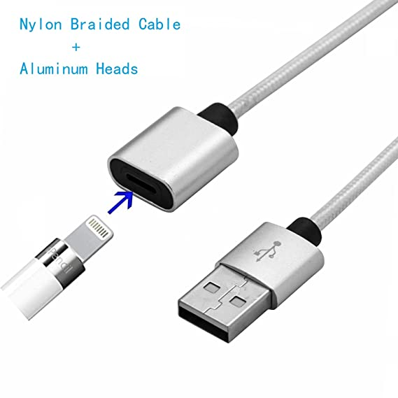 37b3f652696c01 kinnara for Apple Pencil Charger Cable, Apple Pencil Charging Adapter  Charger Cable Metal Heads USB Charger Adapter Cable for iPad Pro Male to  Female Cord ...