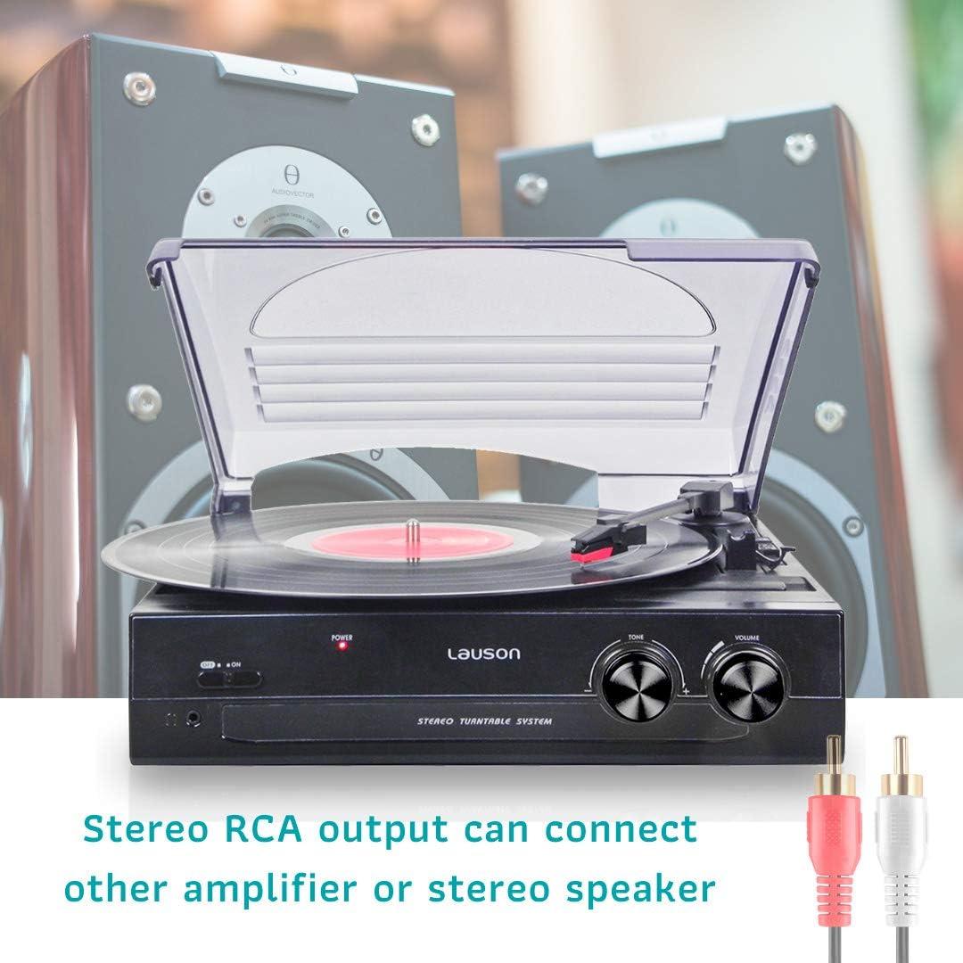 Lauson CL502 - Reproductor de Discos de Vinilo con USB, 3 ...