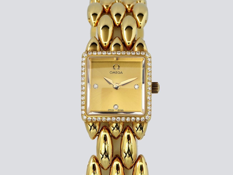 オメガ OMEGA サフェット 6945.1500 シャンパン文字盤 レディース 腕時計 【中古】 B077S4WM13