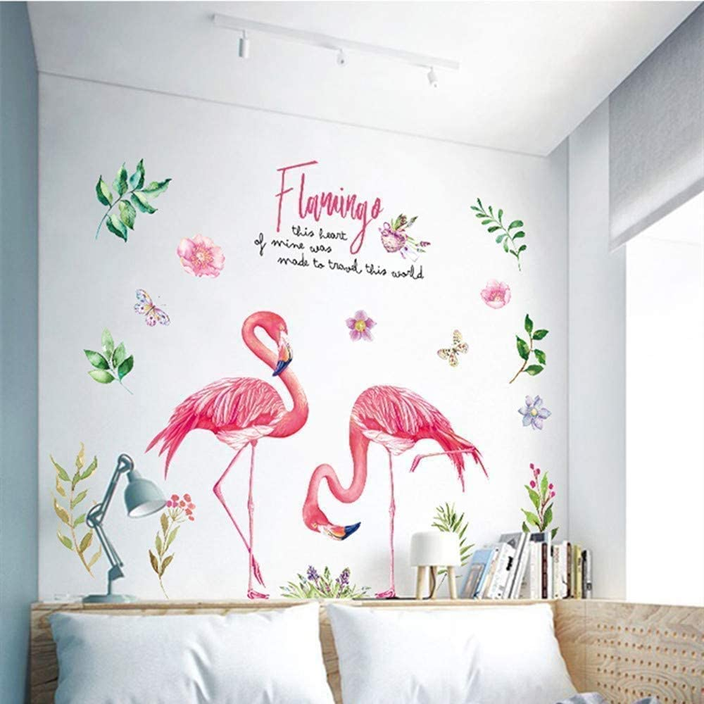 Wall Mural Decal for Living Room, Tropical Jungle Wall Stickers as Wall Decor for Bedroom | 90cm x 120cm Removable Stickers for Walls Decoration as Housewarming Birthday