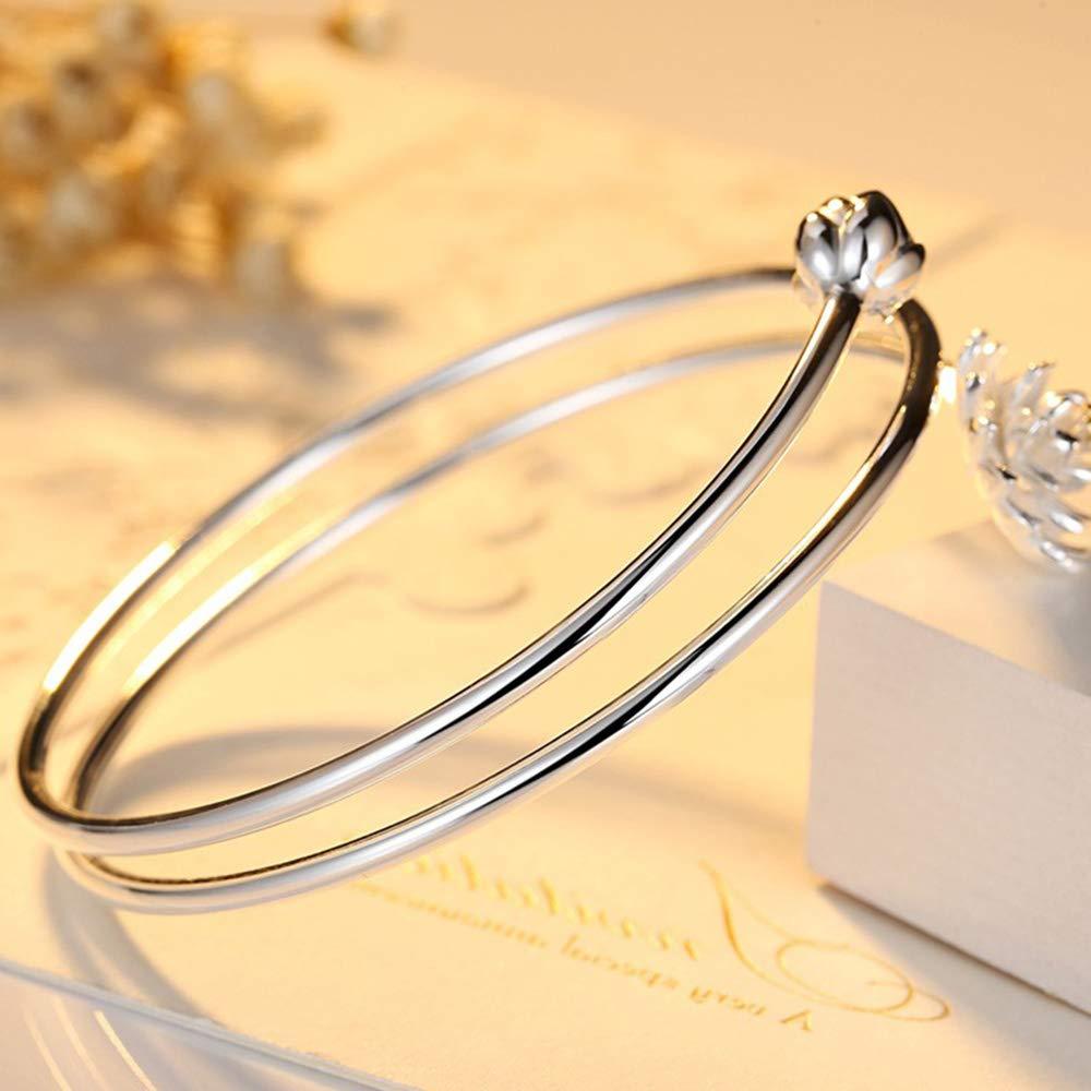 Fliyeong Bracelet en argent avec bijoux de f/ête pour filles