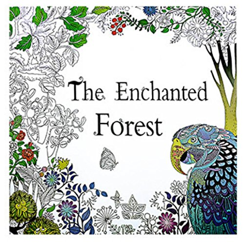 Fun Adult Coloring Book Designs Stress Relief Coloring Book Lost Ocean/Secret Garden (The enchanted forest) by Xiaosan (Image #4)