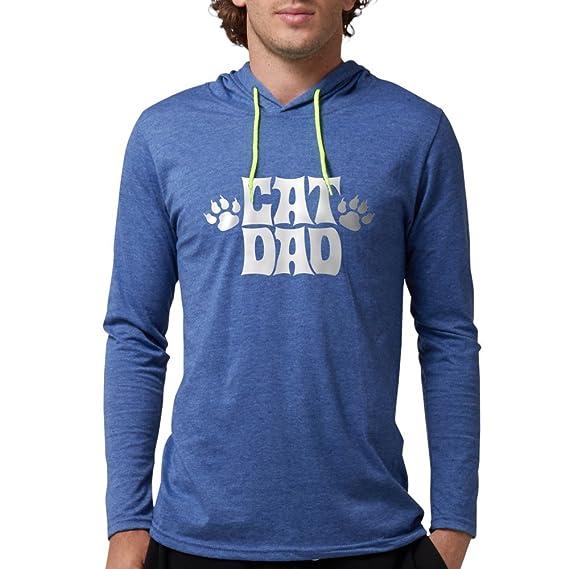 2932ec9a9 Amazon.com: CafePress - Cat Dad - Mens Hooded Shirt: Clothing