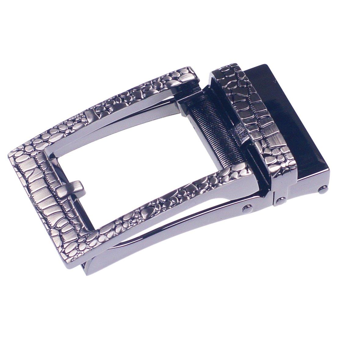 Mens Ratchet Alloy Automatic Buckle-GangTu New Fashion Ratchet Belt Buckle 3.6cm
