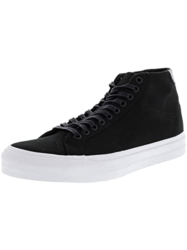 4fa3410b76 Vans Mens Court Mid Canvas Low Top Lace Up Fashion Sneakers  Amazon ...