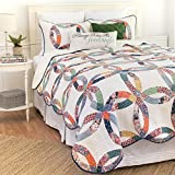 C&F Home 82113.3KSET Heritage Wedding Ring King 3Piece Cotton Quilt Set,Multicolor,King