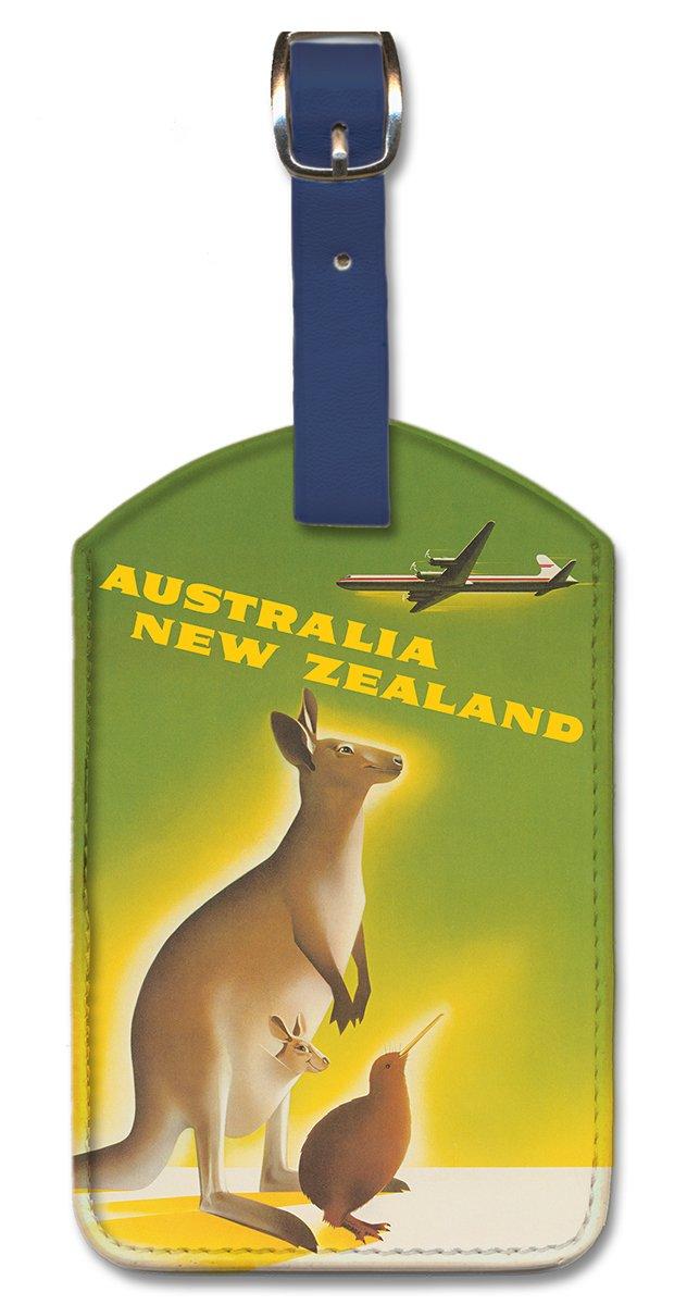 Pacifica Island Art Leatherette Luggage Baggage Tag Australia New Zealand by Ewart Inc.