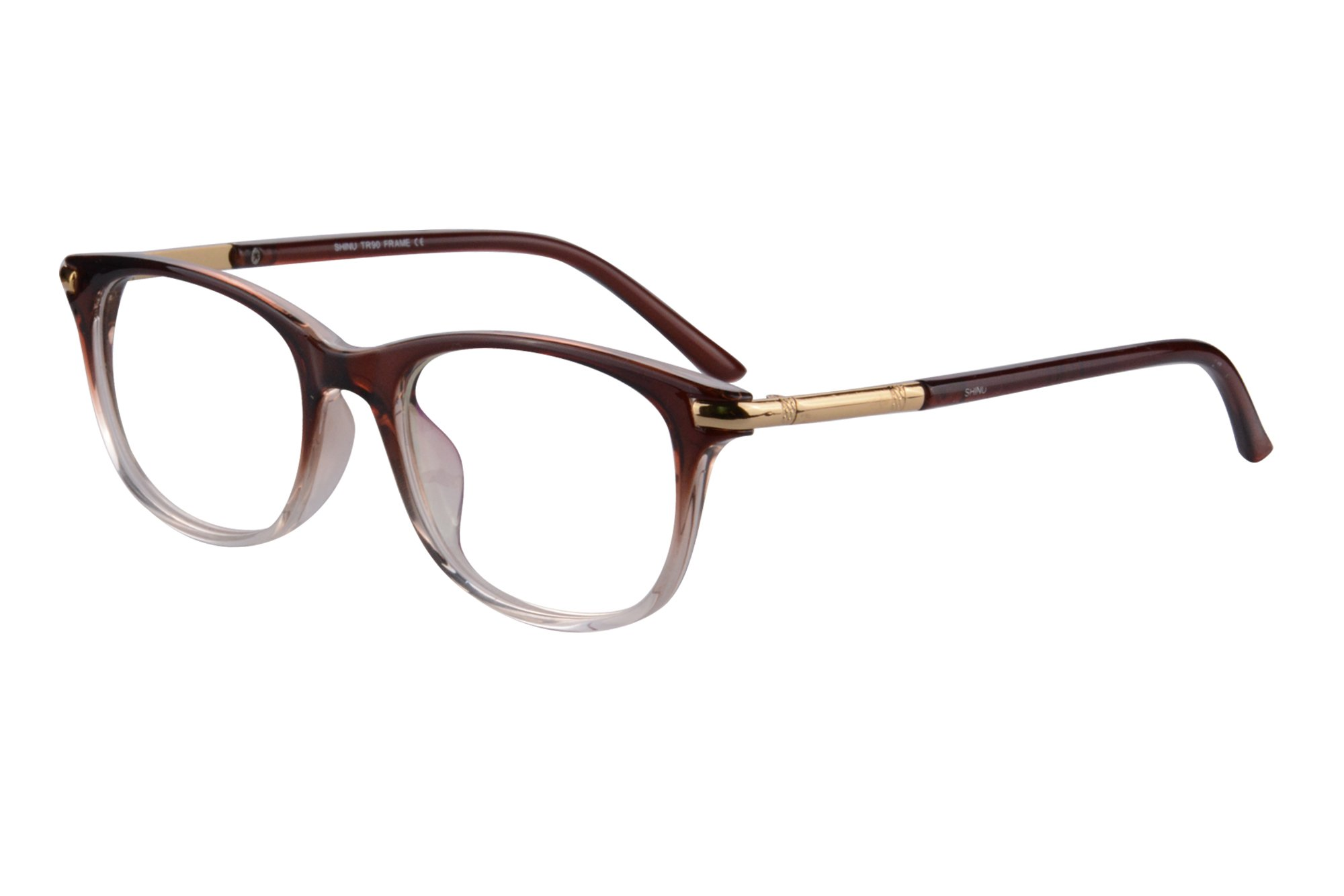 MEDOLONG Women's Anti Blue Light Progressive Multifocus Reading Glasses-MF17(C4,anti-blue,up+0.00,down+2.50)