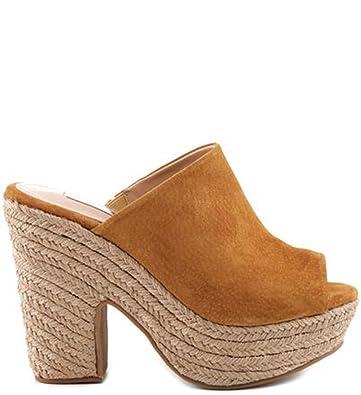 5099597858cf SCHUTZ Eviana Brownie Tan Suede Platform Open Toe Espadrille Mules Sandal  (8)