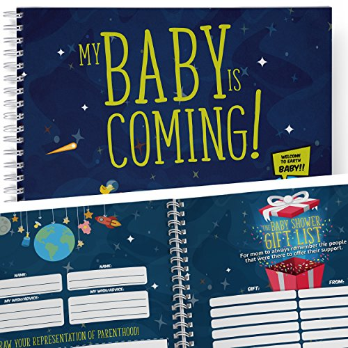 Baby Shower Memory Book & Time Capsule. Great Baby Journal and Keepsake with its guest list, gift list and baby's birth story page, all in one! For you to remember a memorable baby shower