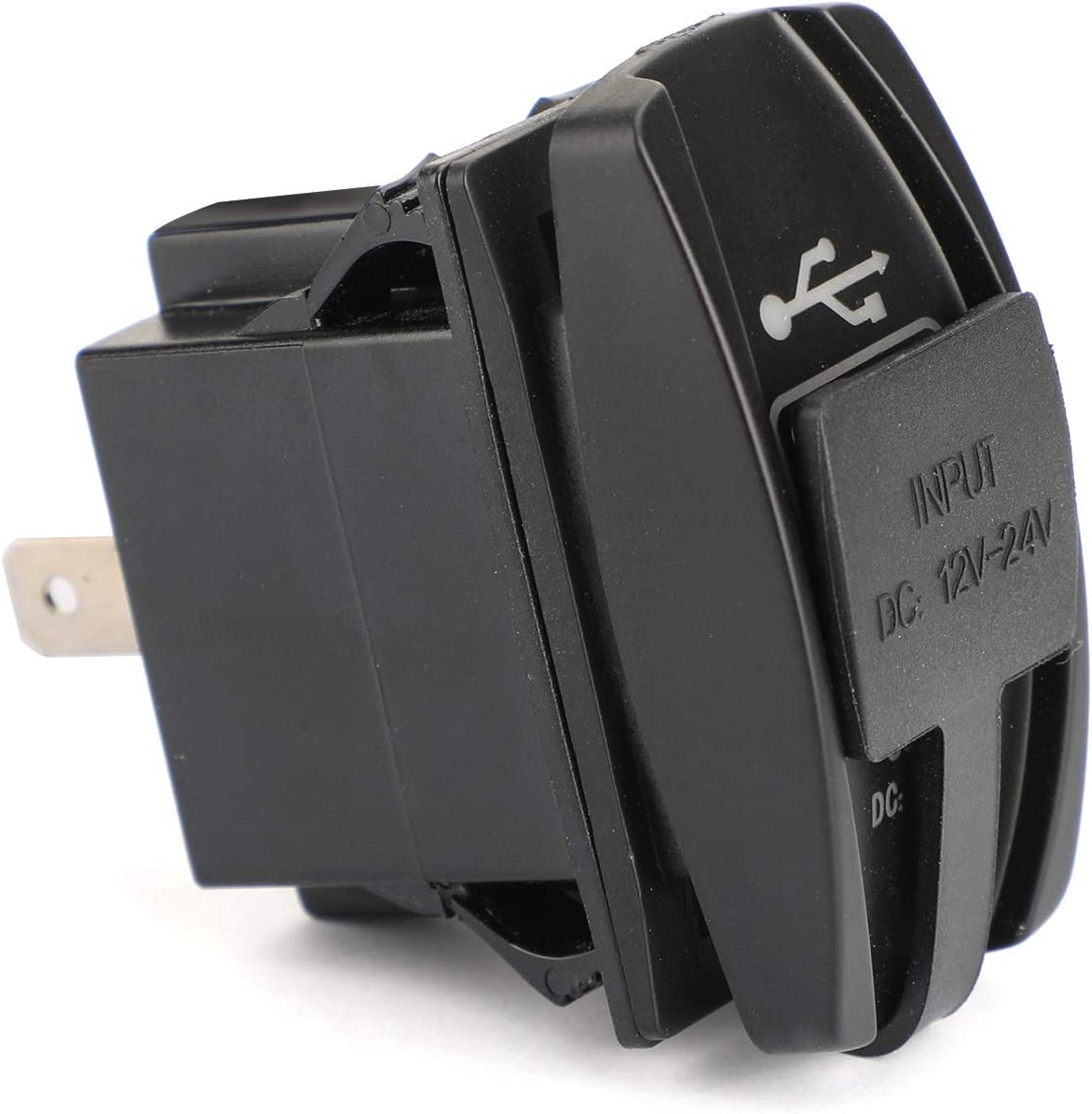 CHENDGE2 Dual USB Socket Charger for UTV Can Am Polaris RZR Ranger 900 1000 XP 750 Red