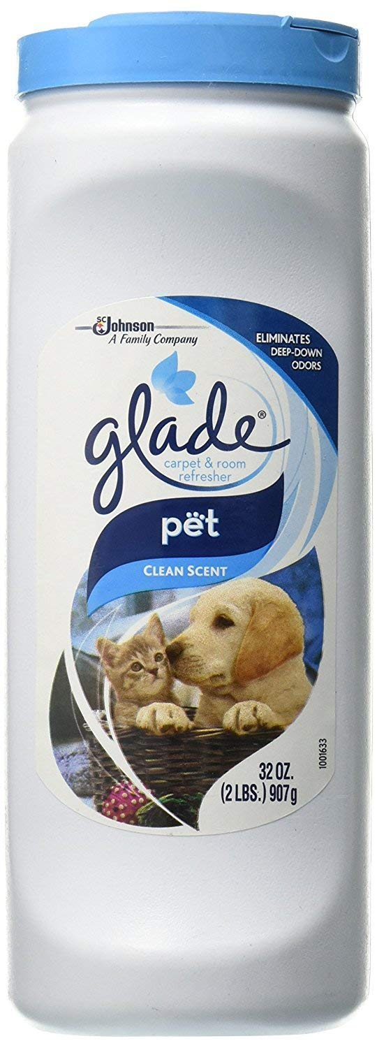 Glade Carpet & Room Refresher/Deodorizer/Neutralizer - Pet Clean Scent, Eliminates Deep Down Odors - 32 Oz (Pack of 4) by Glade (Image #1)