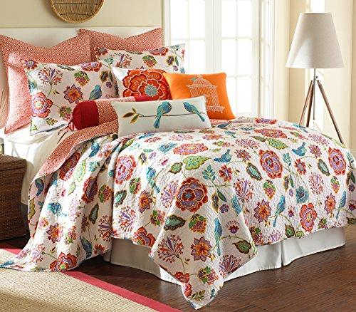 Levtex Home Abigail Quilt Set, Twin, Orange, Blue, Red by Levtex home