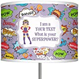 RNK Shops What is your Superpower 13'' Drum Lamp Shade Polyester (Personalized)