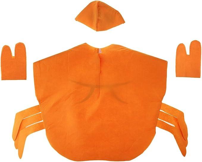 Traje Disfraz Cangrejo Sombrero Naranja Animal Atractivo Sin ...