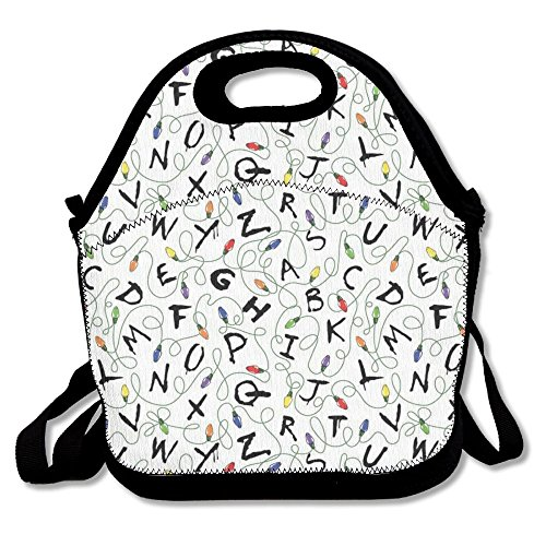 Most Fashion Maker Stranger Things Lunch Bags Insulated Travel Picnic Lunchbox Tote Handbag Shoulder Strap Women Teens Girls Kids Adults -