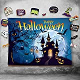 halloween electronic props - Happy Halloween Photography Backdrop and Studio Props DIY Kit. Great as Photo Booth Background, Costume Dress-up Party Supplies and Event Decorations