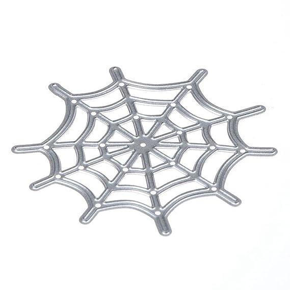 SODIAL Forma corte muere plantillas DIY album de recortes decorativo de la tela de arana: Amazon.es: Hogar