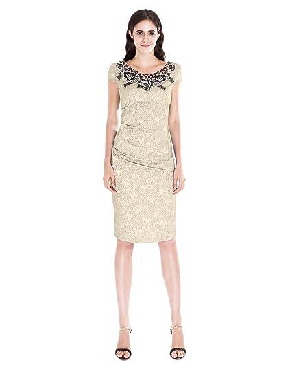 Kiwinny Fitted Lace Bodycon Dress Khaki Large At Amazon