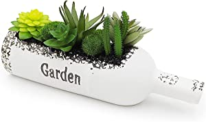 Fake Plant Succulents Plant Artificial in Ceramic Bottle,Personalized Artificial Plant with Lifelike Succulents and Bushes,Small Artificial Plant for Home Decor Indoor(Potted Plant)