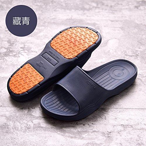 Zapatillas 39 Pisos Espesor Baño Abajo Zapatillas Home Suave 40 Antideslizante Cool Macho Baño Verano Mujeres Oscuro Azul par fankou Interior Stay 6qBOwOT
