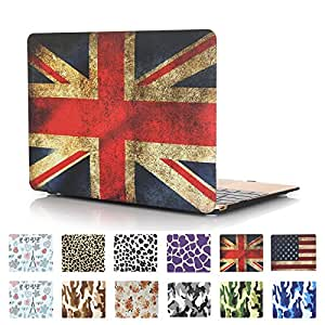 Koala Group de * Two Piece Desarrollado–Libro Folio Agua Pasta Shell/Color De Etiqueta cubre caso Sleeve para Apple (MacBook Air 11inch) --- British Flag