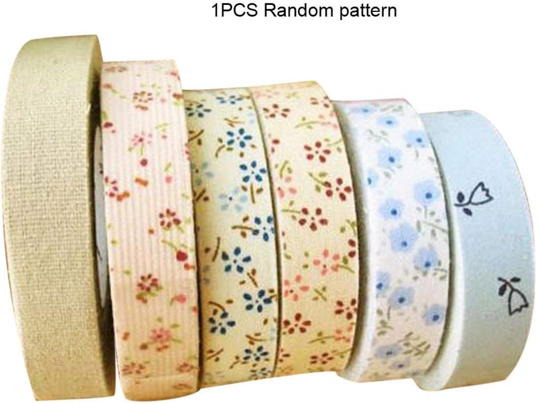 nbvmngjhjlkjlUK Cinta de Tela, Estampado Floral Plancha de un Solo Pliegue Bies de algodón Cinta de bies Encuadernación para Mantel Edredón de Ropa Costura Artesanal (Colorido)