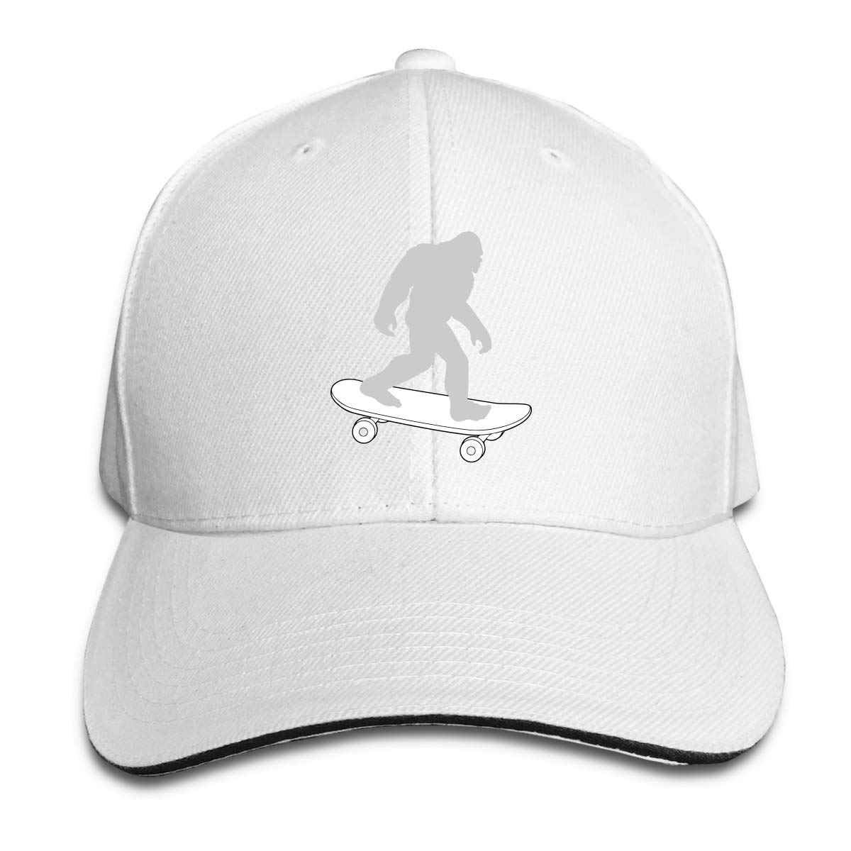 WFIRE Adult Baseball Caps Bigfoot Skateboard Custom Adjustable Sandwich Cap Casquette Hats