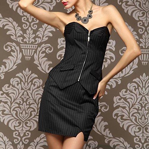 LHWY Mujeres Calientes de Moda Corset Bustier Vestido Traje de Negocios