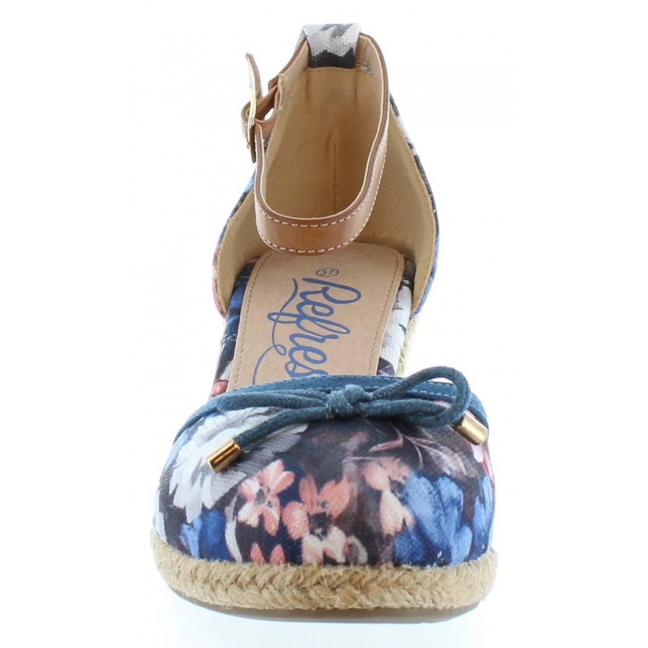 65505bdf6aadd9 Refresh Schuhe Keilabsatz für Damen 61791 TEX Flor Jeans Schuhgröße 40   Amazon.de  Schuhe   Handtaschen