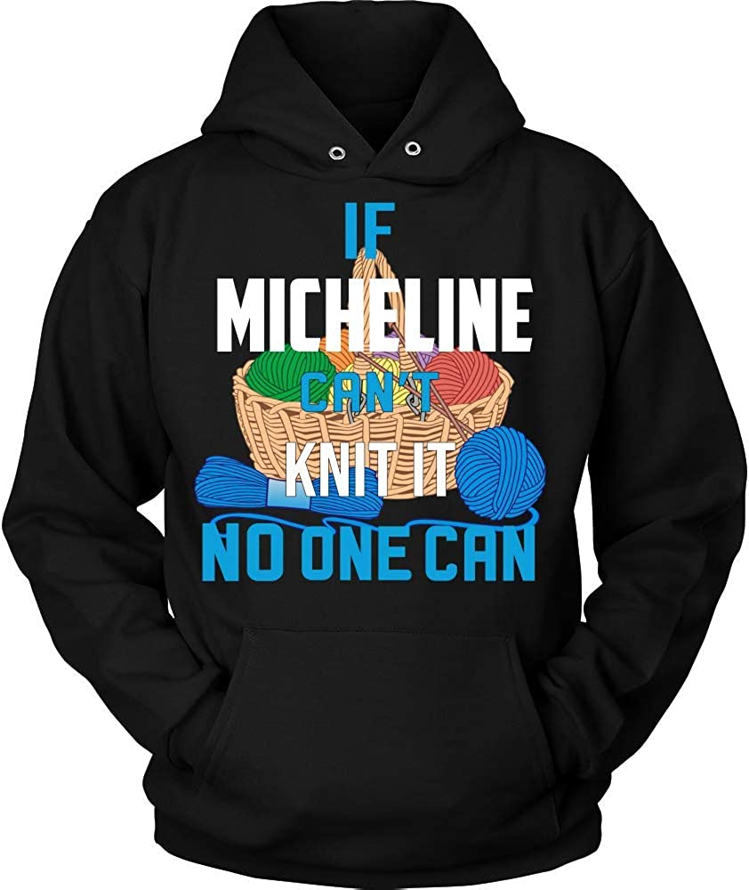 IF Micheline Cant Knit IT NO ONE CAN Hoodie Black