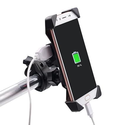 TurnRaise Universal bicicleta móvil soporte con USB cargador ...