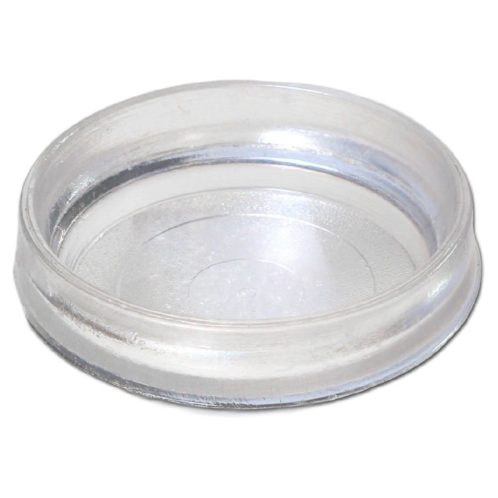 Castor Cups Clear Large X 4 New