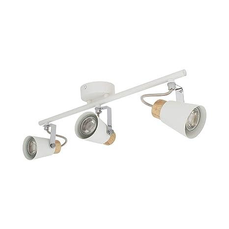 Lámpara de Techo Orientable Mara 3 Focos Blanco Blanco ...