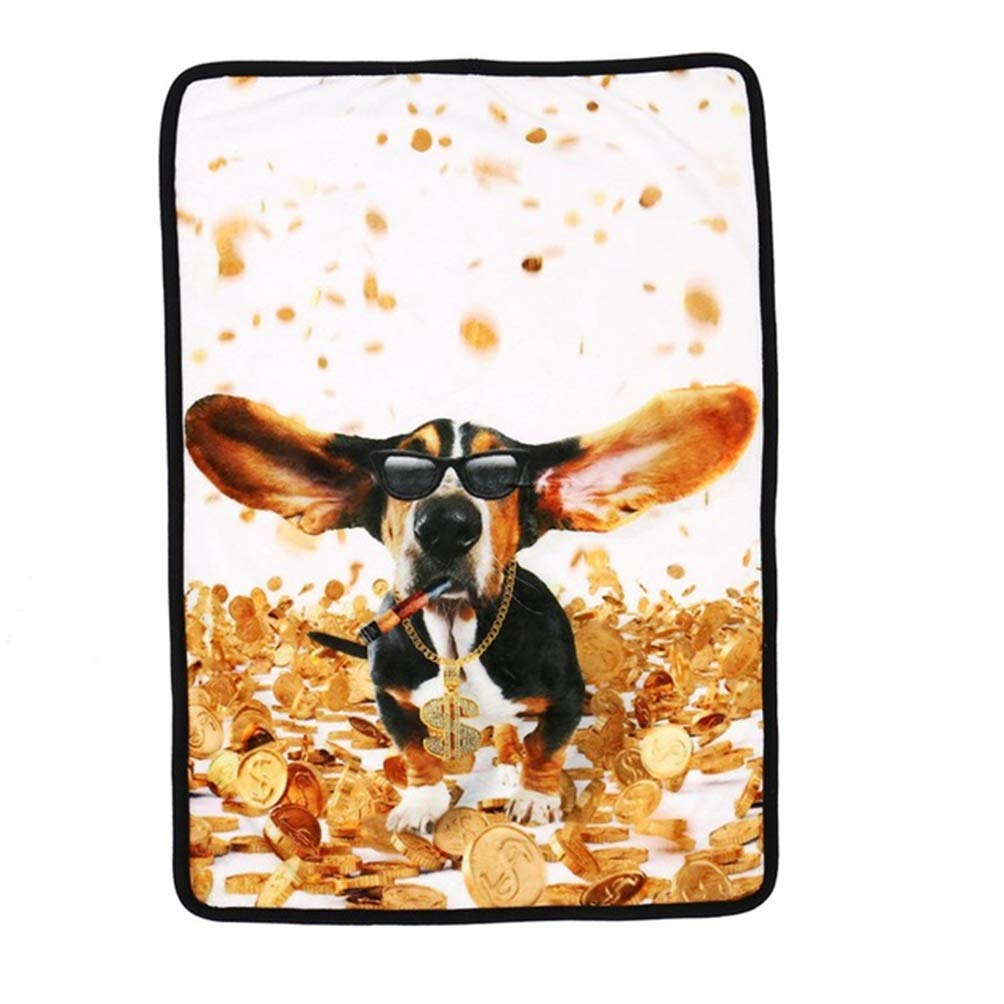 1 L 1 L Jim Hugh Dog Blanket Unique 3D Fashion Dog Universe Printed Soft Bed Mat Dog Cat Travel Car Blanket Cover Small Medium Big Dog