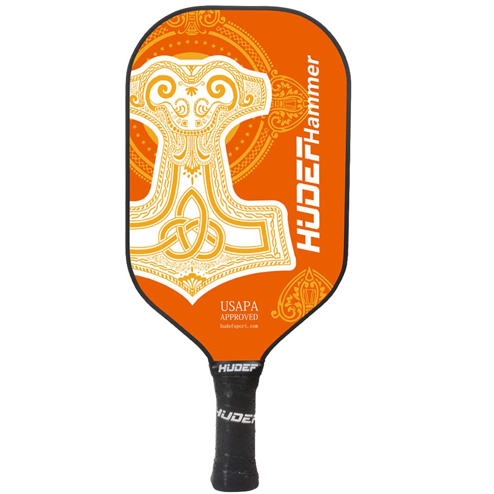 HUDEF Pickleball Paddle-Composite Fiber Face Polypropylene Honeycomb Core Pickleball Racquet,Lightweight Premium Grip and Balanced Pickleball Rackets with Latest Surface Material,USAPA Approved