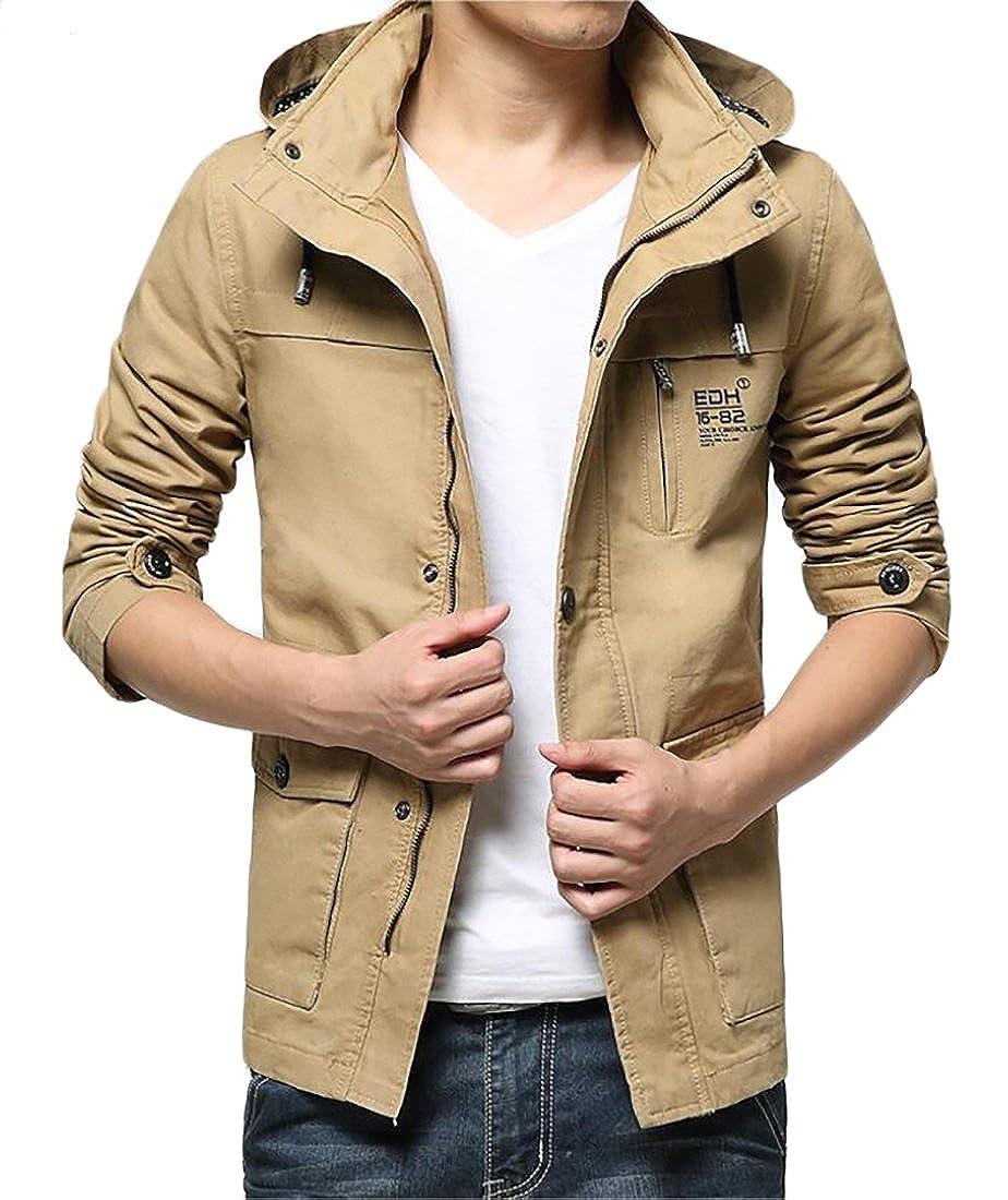 Esast Mens Waterproof Insulated Fleece Ski Jacket Windproof Hooded Rain Jacket