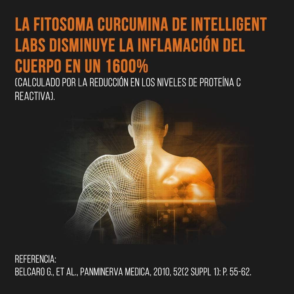 Intelligent Labs Fitosoma Curcumina Meriva de 500 mg, Absorción un 2900% Superior a la Curcumina de Cúrcuma Tradicional, 100% Sin Soja, 120 Cápsulas