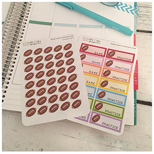 Football Game, Practice Planner Stickers, Erin Condren Stickers, Life Planner Stickers, Planner Accessory (SF-R-01) | (SF-R-02)