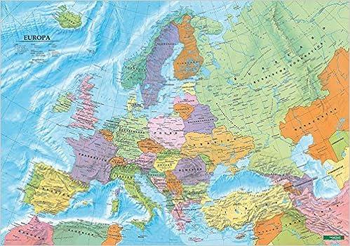 Europa Politisch Poster 1 6 000 000 Metallbestabt In Rolle