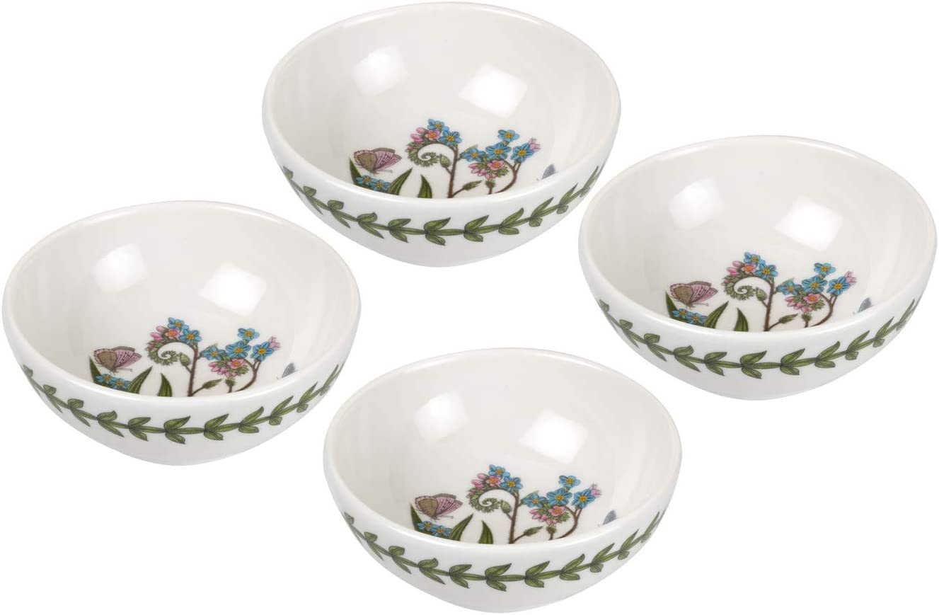 Portmeirion Botanic Garden Set of 4 Small Forget-me-not Low Bowls