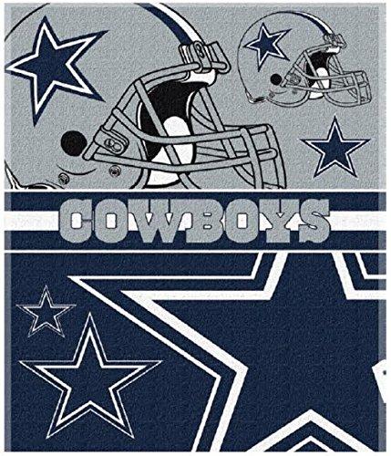 Licensed Dallas Cowboys Football 54x68 Cotton Velour Beach Blanket