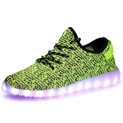 GreatJoy Adults Kids LED Shoes Light Up Sneaker USB Charging Fashion Gift  (27  bc3cbd555f