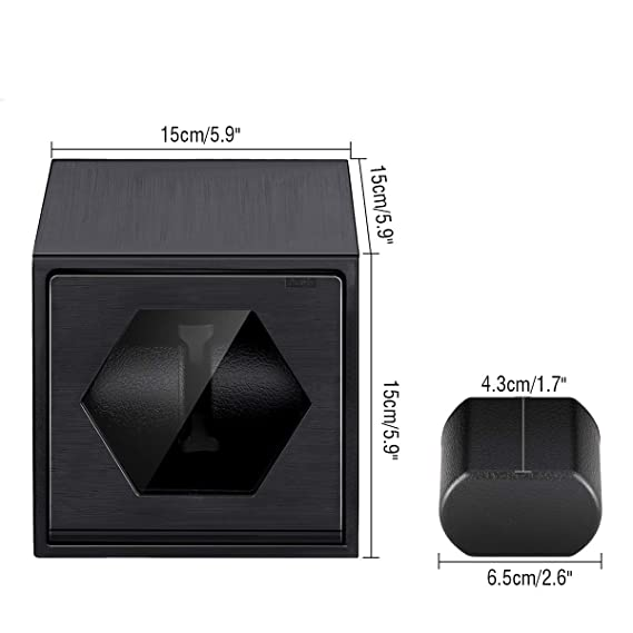 Caja Carga de Reloj, FLOUREON Enrollador de Aluminio, Reloj de Carga con Motor Automático, Caja de Reloj Portátil con Pantalla, Reloj de Carga 2, ...