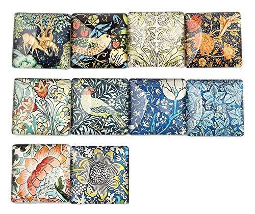 Art Fridge Magnets Set of 10, Birds, Flowers, Deer, Gorgeous! Cute Fridge magnets. Office or kitchen.