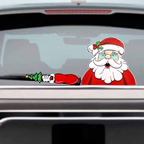 Amazon Com Howaf Car Auto Window Sticker Christmas
