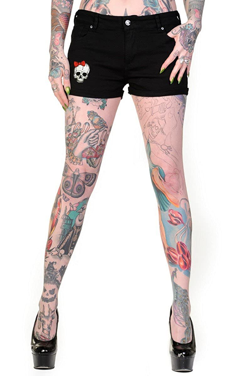 Banned short skeleton fonction main de squelette short pour femme - Noir -  Taille L  Amazon.fr  Vêtements et accessoires 6fc7c717454
